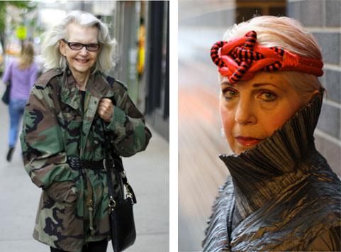 Zweimal Mode im Alter