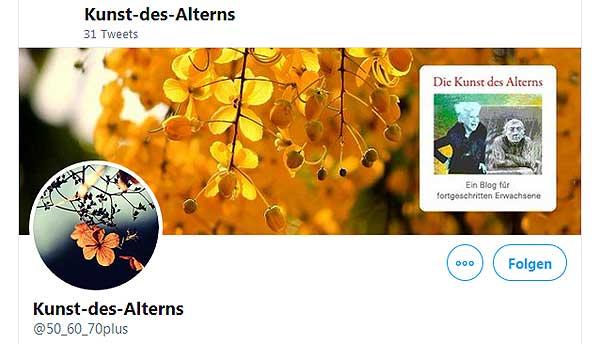 Twitter-Profil Kunst des Alterns